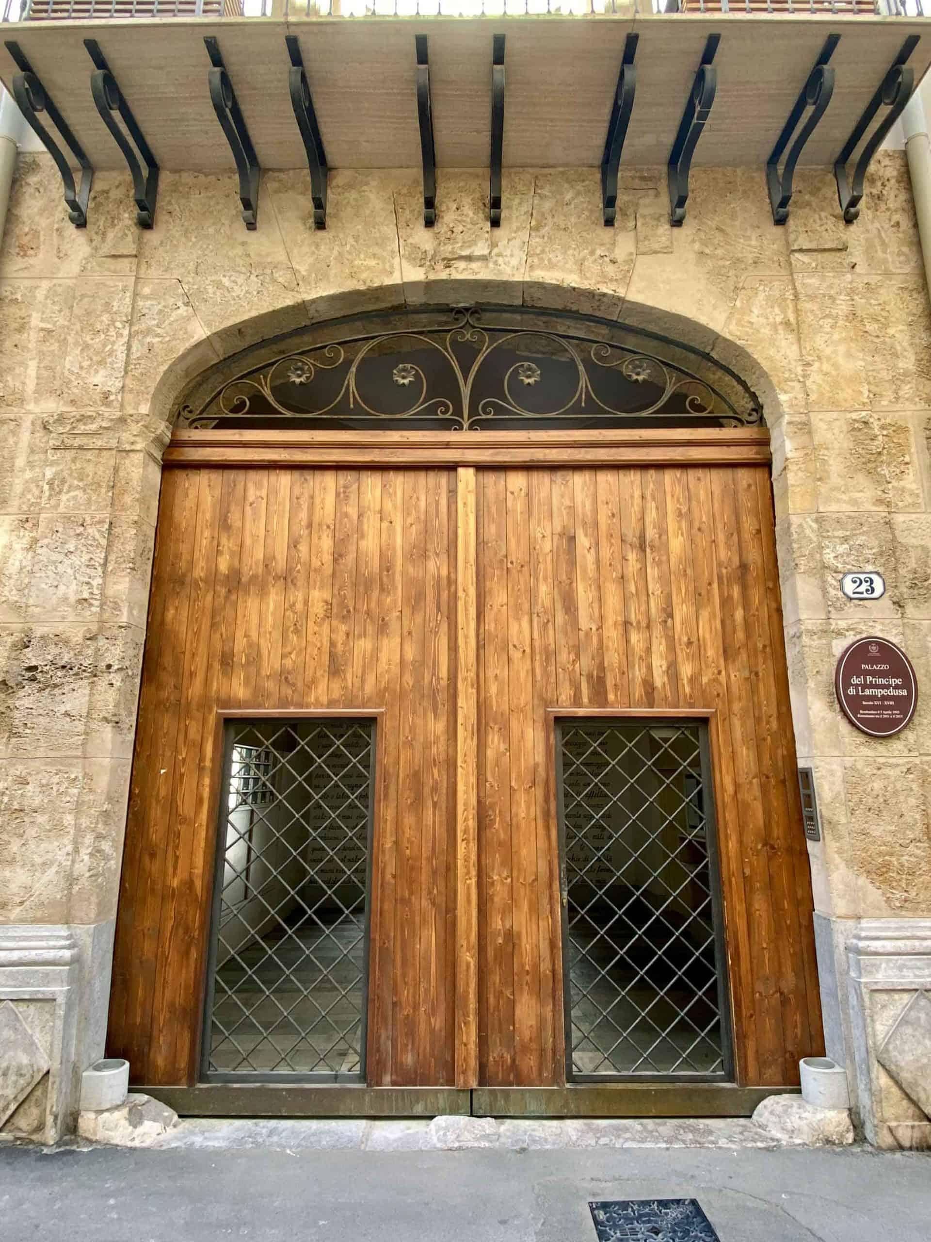 Portone Palazzo Lampedusa